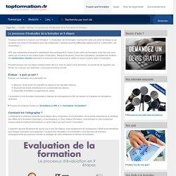 Evaluation de la formation en 9 étapes
