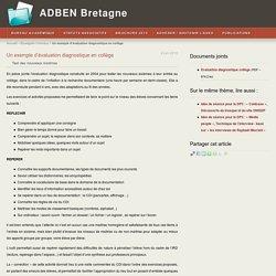Un exemple d'évaluation diagnostique en collège - ADBEN Bretagne