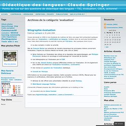 evaluation « Didactique des langues- Claude Springer