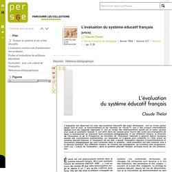 L'évaluation du système éducatif français