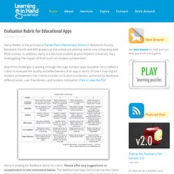 Evaluation Rubric for Educational Apps