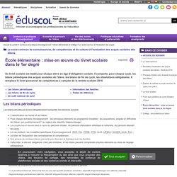 Le socle commun et l'évaluation des acquis - École élémentaire : mise en œuvre livret scolaire dans le 1er degré