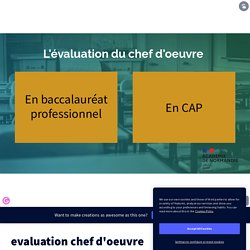 evaluation chef d'oeuvre by enseignant on Genially