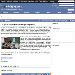 Les grilles d'évaluation des enseignants publiées