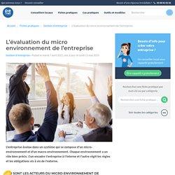 L'évaluation du micro environnement de l'entreprise