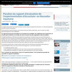 Parution du rapport d'évaluation de l'expérimentation d'Alcochoix+ en Nouvelle-Aquitaine / Fédération addiction, mars 2021