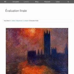 Évaluation finale (séquence VI)