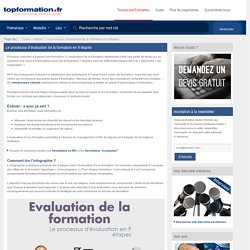 Evaluation de la formation en 9 étapes