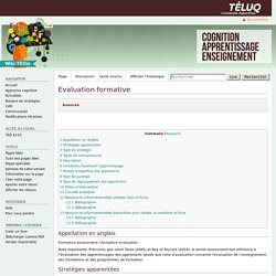 Evaluation formative — ted6210