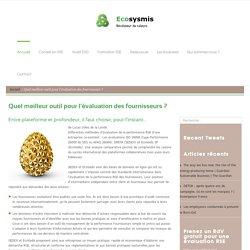 Quel meilleur outil pour l'évaluation des fournisseurs ? - ecosysmis.com