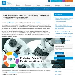 ERP Evaluation Criteria and Functionality Checklist to Select the Best ERP Solution
