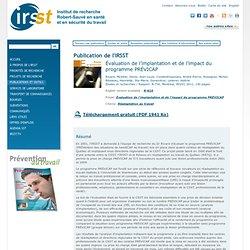 Évaluation de l'implantation et de l'impact du programme PRÉVICAP