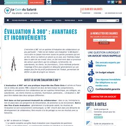 Evaluation à 360° : avantages et inconvénients