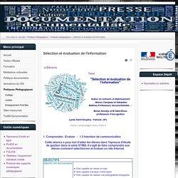 Sélection et évaluation de l'information