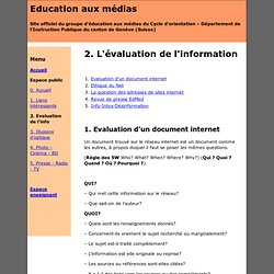 Evaluation de l'information