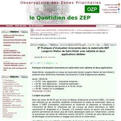 Pratiques d'évaluation innovantes dans la maternelle REP Langevin-Wallon(...)