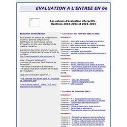 Académie de Créteil - Lettres - Les cahiers d'évaluation interactifs