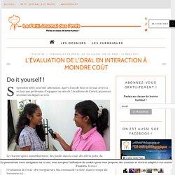 L'évaluation de l'oral en interaction à moindre coût