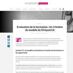 Evaluation de la formation : les 3 limites du modèle de Kirkpatrick