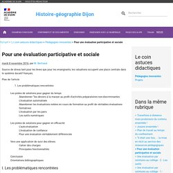 Pour une évaluation participative et sociale