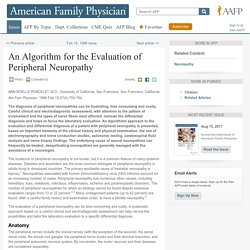An Algorithm for the Evaluation of Peripheral Neuropathy