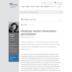 Plaidoyer contre l'évaluation permanente