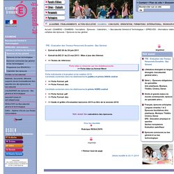 TPE - Evaluation des Travaux Personnels Encadrés - Bac Général