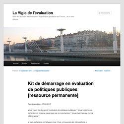Kit de démarrage en évaluation de politiques publiques [ressource permanente]