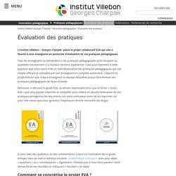 Évaluation des pratiques - Institut Villebon Georges Charpak
