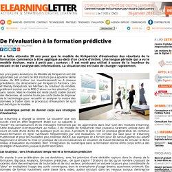 De l'évaluation à la formation prédictive