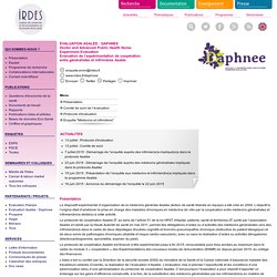 Evaluation Asalée : Daphnee - Doctor and Advanced Public Health Nurse Experiment Evaluation : Présentation - Irdes