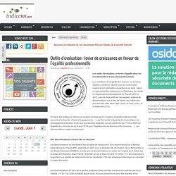 Outils d'évaluation : levier en faveur de l'égalité professionnelle