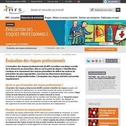 Évaluation des risques professionnels. Évaluation des risques professionnels - Démarches de prévention