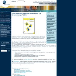 CNPS - Guides et documents pratiques - Evaluation des risques professionnels