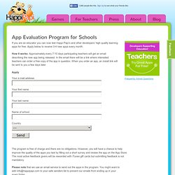 App Evaluation Program for Schools | HappiPapi