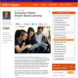 Evaluation Within Project-Based Learning
