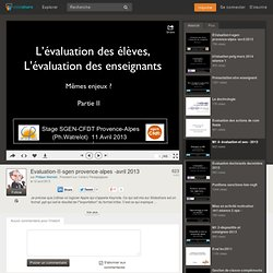 Evaluation-II-sgen provence-alpes -avril 2013