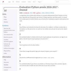 Evaluation Python année 2016-2017 - énoncé — Python pour un Actuaire 0.4.599