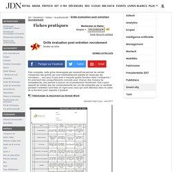 Grille évaluation post entretien recrutement - Modèle gratuit de lettre