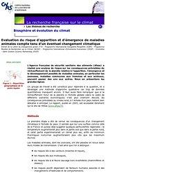 Evaluation du risque d'apparition et d'émergence de maladies animales compte tenu d'un éventuel changement climatiqueExtr
