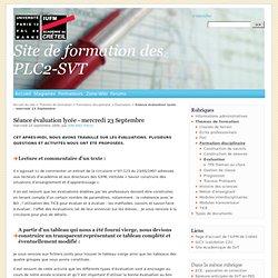 Séance évaluation lycée - mercredi 23 Septembre - Site de formation des PLC2-SVT
