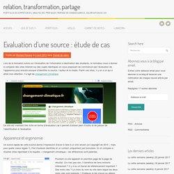 Evaluation d'une source : étude de cas