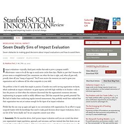 Seven Deadly Sins of Impact Evaluation