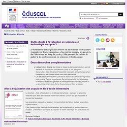 RUB. SITE Éduscol : Outils d'aide à l'évaluation en sciences et technologie au cycle 3