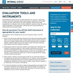 Evaluation Tools and Instruments