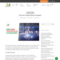 Phases of Lean Transformation