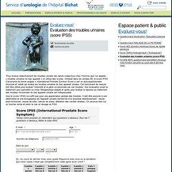 Score troubles urinaires IPSS (urobichat.fr)