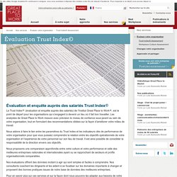 Évaluation Trust Index©