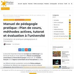Manuel de pédagogie pratique : Plan de cours, méthodes actives, tutorat et évaluation à l'université