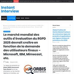 Le marché mondial des outils d'évaluation du RGPD 2025 devrait croître en fonction de la demande des utilisateurs finaux – Microsoft, IBM, Mimecast, etc. – Instant Interview